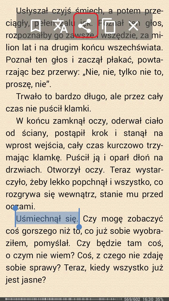 Tłumaczenie - zaznaczenie tekstu
