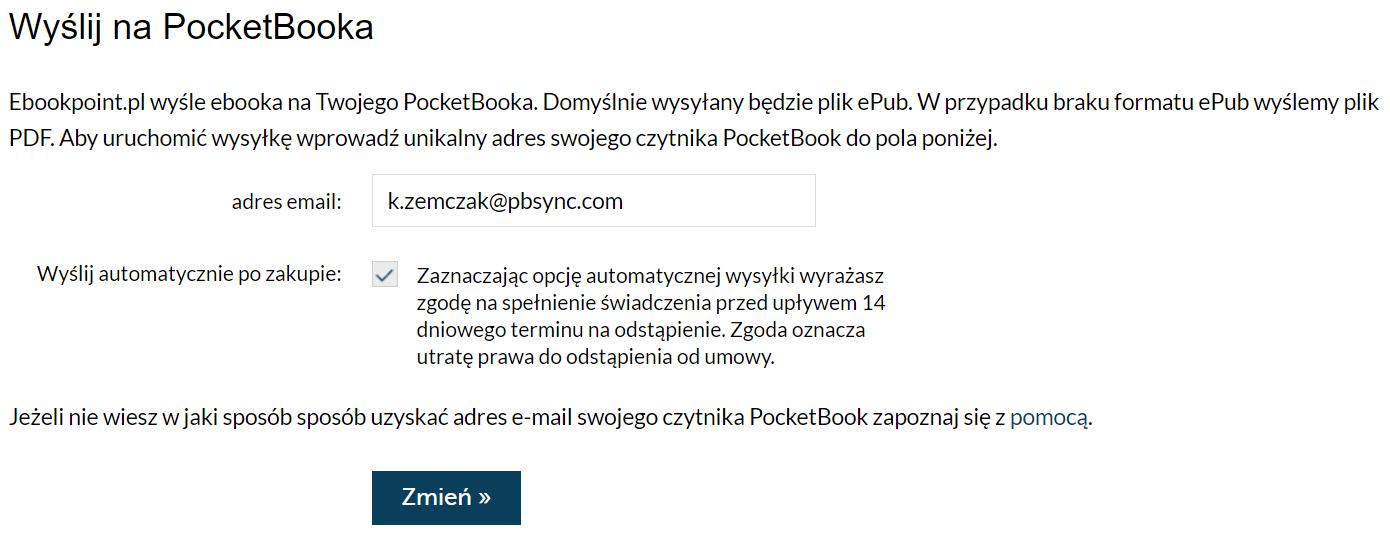 Usługa Send-to-PocketBook - ebookpoint.pl