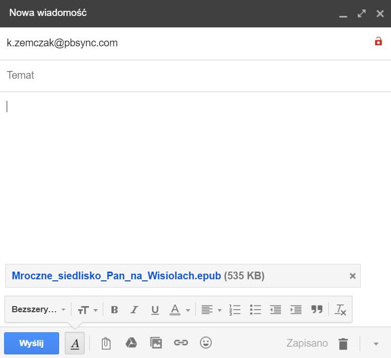 Jak wysyłać ebooki za pośrednictwem usługi Send-to-PocketBook 1