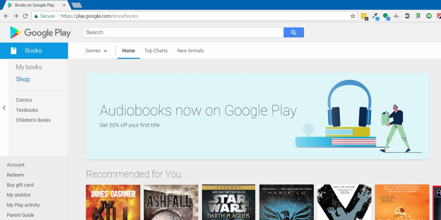 Audiobooki w Google Play