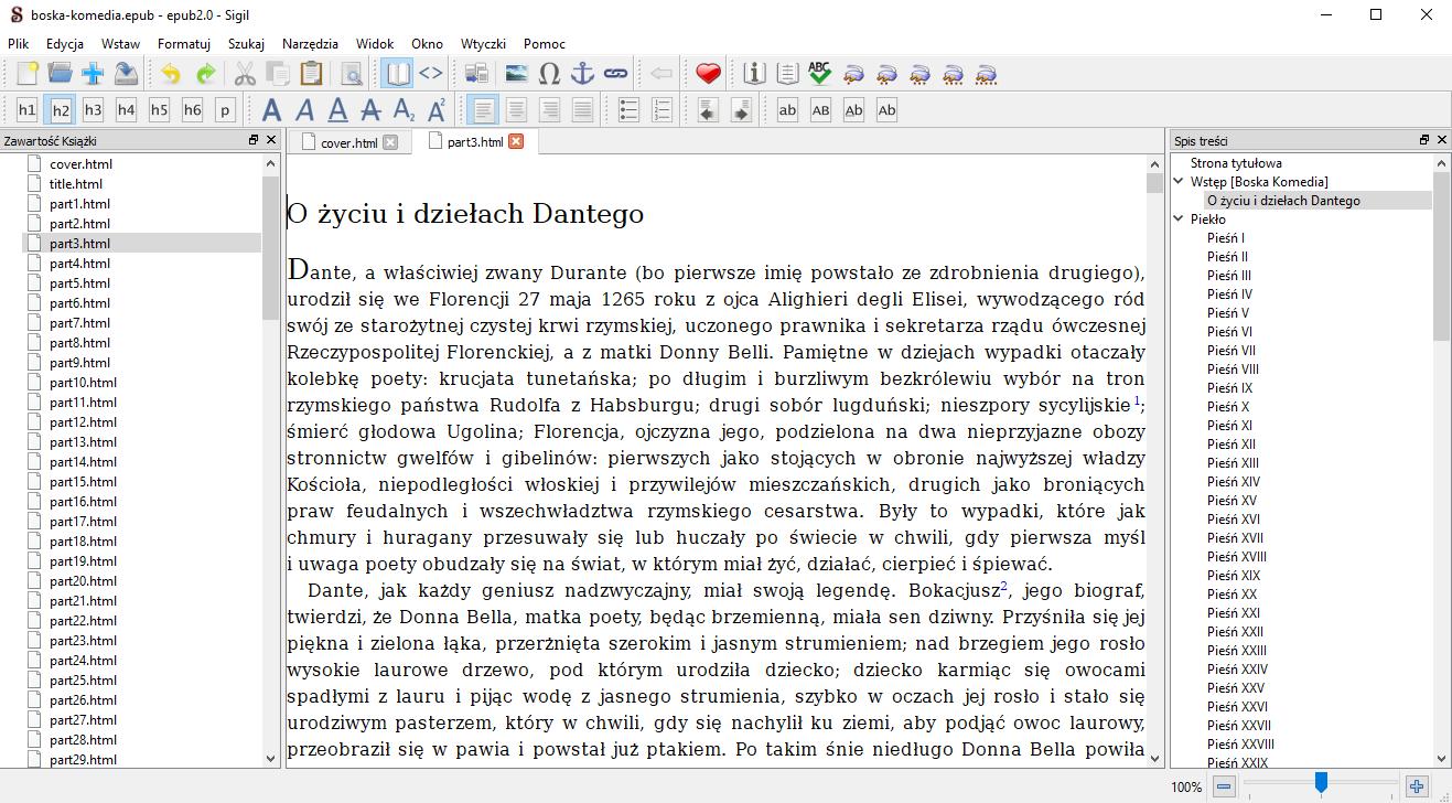 Sigil – zaawansowany i darmowy edytor ebooków