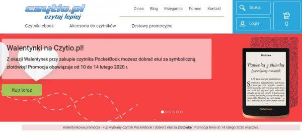 Walentynkowa promocja w Czytio.pl: Kup czytnik PocketBook i dobierz etui za złotówkę